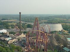 One of the tallest wooden roller coasters  Great America Gurnee IL