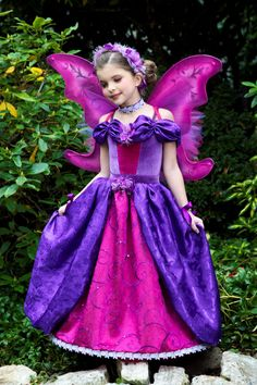 Shop for on Etsy, the place to express your creativity through the buying and selling of handmade and vintage goods. Fairy Princesses, Princess Costumes, Halloween, Costume Ideas, Ball Gowns, Aurora Sleeping Beauty, Wings, Embroidery, Disney Princess