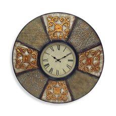 Embossed Metal Wall Clock