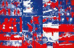 Gérard Fromanger : Album Le Rouge, 1968. 21 affiches sérigraphiées. Gérard Fromanger, 2016 / Centre Pompidou / Dist RMN-GP, photo Georges Merguerditchian