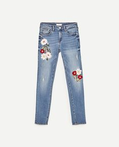 PREMIUM COLLECTION EMBROIDERED SKINNY FIT JEANS - NEW IN-WOMAN | ZARA Finland