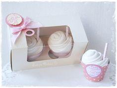 Cadeau de naissance fille Duo bodies cupcakes