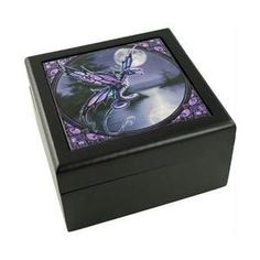 Azuregreen Fb081 Anne Stokes Dragonfly Box