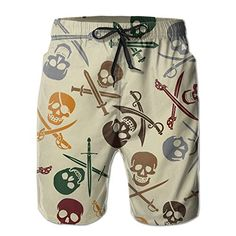 Skull Marihuana Cannabis Leaf Leaves Stretch Board Swimming Trunks Mens Shorts Adjustable Microfiber