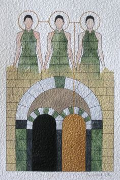 """Aquarelle """"Gatekeepers"""" 2012"""