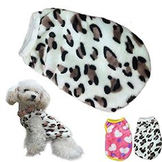 2017 Hot Pet Vest! AMA(TM) Pet Puppy Small Dog Winter Warm Clothes Chihuahua Coral Fleece Leopard Vest T-Shirt Doggy Coat Apparel Costume (XL, White) * Check this awesome image @
