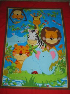 Jungle Animals Quilted Comforter Blanket by nwcreativestitches, $58.00