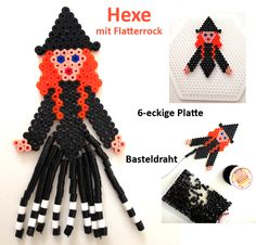 Witch Halloween hama perler beads