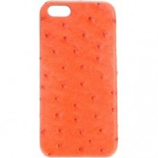 iPhone 6 Plus Ostrich Leather Case by Maison Takuya in Orange