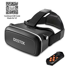 """[Best Movie VR] DESTEK V2 3D VR Virtual Reality Headset, VR Glasses with Bluetooth Remote for 360 ° Immersive Videos/Movies/Games in 4-5.7"""" iPhone 5 6s Plus Samsung S6 Edge NOTE 5 LG G3 G4 Nexus 5 6P"""