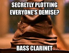 The Music Sorting Hat! My best friend plays bass clarinet!