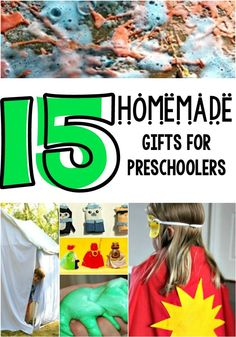 Looking for amazing gifts for preschoolers? You can make these from home, so they are extra special!