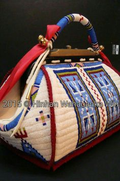 Fully beaded late 1800s dr satchel in size 15 beads. 2011. RGT original. By Ramey Growing Thunder.