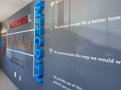 Mission Statement Wall Sign - Core Values | Woodland Manufacturing