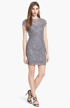Hailey by Adrianna Papell Embellished Lace Sheath Dress (Online Only) | Nordstrom