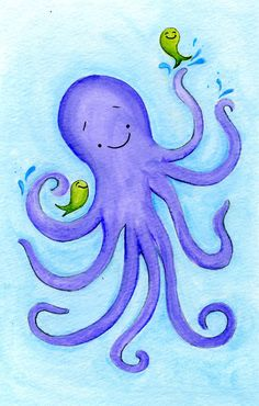 Kids Room decor  Octopus