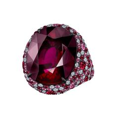 Robert Procop Oval-Shaped Rubellite Cocktail Ring - so fabulous it needs no explanation.