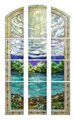 San Antonio Texas LDS Temple  Stained Glass Window  by Tom Holdman