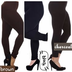 HP 12/10, 20FLEECE LINED PLUS LEGGINGS! A closet essential for our cooler months.  These fleece lined leggings are very soft and stretchy! CHOOSE BROWN, BLACK OR CHARCOAL. UP TO 3X PLEASE DO NOT BUY THIS LISTING, I will personalize one for you.♦️UPDATE: BROWN IS 1X-2X tla2 Pants Leggings