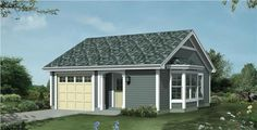 This lovely Cottage style home with Small House Plans influences (House Plan #138-1209) has 421 square feet of living space. The 1 story floor plan includes 1 bedrooms.
