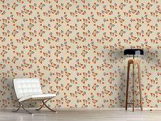 Design #Tapete Streublumen Auf Beige Cottage, Curtains, Beige, Home Decor, Pink, Self Adhesive Wallpaper, Floral Patterns, Wall Papers, Blinds