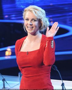 Britney at The X Factor Top 10 Elimination.