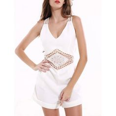 Cheap women jumpsuit, Buy Quality casual women jumpsuits directly from China jumpsuit summer Suppliers: 2017 Jumpsuit Summer Sexy Hollow Out Backless Bodysuit Women Solid Color White Sleeveless Rompers Beach Casual Womens Jumpsuit Rompers Women, Jumpsuits For Women, Backless Bodysuit, Womens Bodysuit, Fashion Seasons, Womens Fashion Online, Clothes For Women, Pattern, Beach Casual