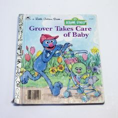 A Little Golden Book: Grover Takes Care of Baby (Sesame Street) by MyForgottenTreasures on Etsy