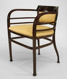 Bentwood Secessionist seating chair/arm chair-pair mahogany