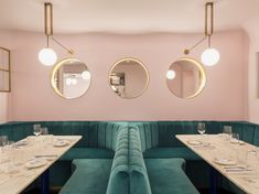 North Audley Canteen is a French restaurant in Mayfair. Restaurant Design, Restaurant Bar, Luxury Restaurant, Pink Restaurant London, Sketch Restaurant, Restaurant Interiors, Murs Roses, Mayfair London, Pub Set