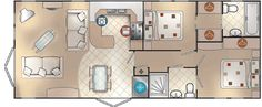 New Hampshire 40 x 16 2bed sleeps4 floor plan