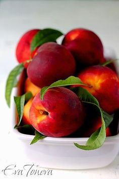 Nectarines by Eva Toneva. Stone fruits are in season and I am so excited! Nectarines are by far my favourite summer fruit! Fresh Fruits And Vegetables, Fruit And Veg, Fruits Photos, Fruit Photography, Beautiful Fruits, Exotic Fruit, Pink Fruit, Delicious Fruit, Yummy Food