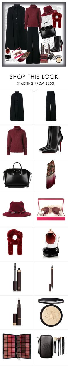 """""""WINTER"""" by sedinashatri ❤ liked on Polyvore featuring Valentino, Roland Mouret, BY. Bonnie Young, Christian Louboutin, Givenchy, Maison Michel, Cartier, Gucci, Agonist and Tom Ford"""