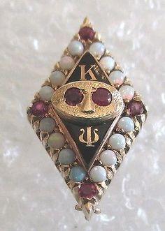 Vintage 10K Gold Kappa Psi Pharmaceutical Fraternity Badge/Pin ...
