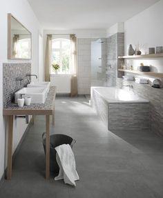 fliesen schwarzer schiefer badezimmer | haus im harz - bad, Hause ideen