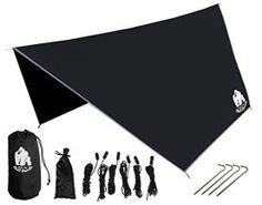 Chill-Gorilla-Pro-Waterproof-Tent-Tarp-Rain-Fly-and-Hammock-Shelter-Essential-Camping-and-Survival-Gear-DIAMOND-RIPSTOP-Nylon-Black