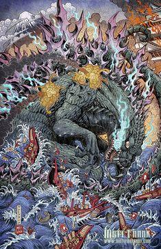 Godzilla: Rage Across Time #1 clean ver by KaijuSamurai.deviantart.com on @DeviantArt