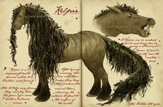 Care of Magical Creatures Assignment - Kelpie by CelticBotanYou can find Magical creatures and more on our website.Care of Magical Creatures Assignment - Kelpie by CelticBotan Mythical Creatures Art, Mythological Creatures, Beast Creature, Monster Book Of Monsters, Fantasy Beasts, Legends And Myths, Fantastic Beasts And Where, Creature Concept, Creature Design