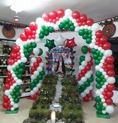 Oh the weather outside is frightful, but the balloon decor's delightful! Church Altar Decorations, Ballon Decorations, Quince Decorations, Christmas Decorations, Merry Christmas Wishes, Christmas Events, Noel Christmas, Balloon Columns, Balloon Arch