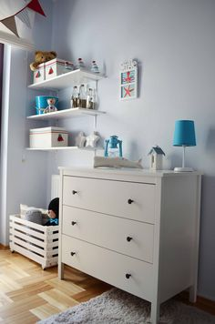love the colours for a little boys room