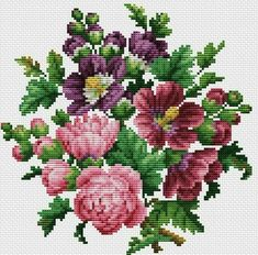 This Pin was discovered by Neş Cross Stitch Pillow, Cross Stitch Bird, Cross Stitch Flowers, Counted Cross Stitch Patterns, Cross Stitch Designs, Cross Stitching, Cross Stitch Embroidery, Embroidery Patterns, Crochet Backpack Pattern