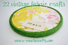 Tons of beautiful vintage fabric crafts!