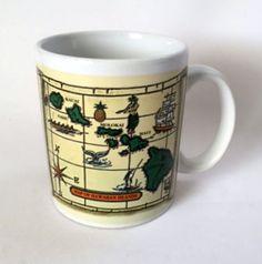 Hawaiian Islands Mug Compass Rose Chart Map #Hawaii Island Coffee Cup