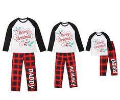 Perfect comfy pjs for Christmas morning photograph,Xmas party, charming gift,it makes your holidays more memorable. Christmas Family Pajamas for Women/Men/Kid Boys/Kid Girls to celebrate a nice new year. Cute Merry Christmas pattern,long sleeve with Child print plaid long pant pajamas set.You can image whole family members in it. Round neck designed for easy on-and-off.The sleepwear is snug-fitting or flame resistant for your child's safety. Elf Pajamas, Pajamas Women, Pjs, Christmas Morning, Family Christmas, Merry Christmas, Kids Girls, Baby Kids, Family Pajama Sets