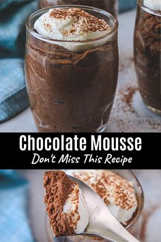 To make this eggless chocolate mousse recipe you'll need 5 ingredients and 15 minutes only. Decadently creamy, light and pillowy, and indulgently chocolaty. This is perfect for chocolate lovers like you. There is no gelatin and no eggs in mousse, so it purely vegetarian chocolate mousse. You won't believe that this chocolate mousse is made without eggs. Try it once, you will surely love it. Eggless Chocolate Mousse Recipe, Chocolate Recipes, Baking Recipes, Dessert Recipes, Desserts, Eggless Baking, Vegetarian Chocolate, Gelatin, Chocolate Lovers