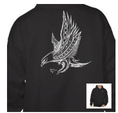 Polynesian eagle hoodie Mixed polynesian tribal tattoo phone case clothe laptop sleeve, artwork inspired by designs from samoa tahiti wallis patterns link to my facebook page https://www.facebook.com/matalaadesign link to my website http://www.matalaa.com link to my zazzle shop http://www.zazzle.com/matalaa