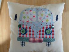 "VW CAMPER VAN Patchwork cushion Kit 12"" Cath Kidston Fabric & Pattern New!"