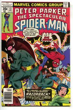 Spectacular Spider-Man 13 Marvel 1977 VF 1st Razorback Hate Monger Sal Buscema