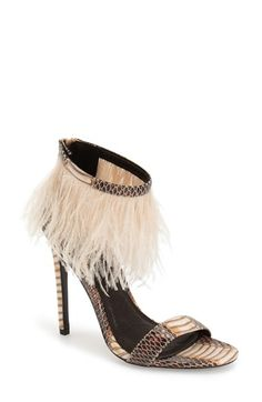 Topshop 'Ravenous' Feather Sandal (Women) available at #Nordstrom