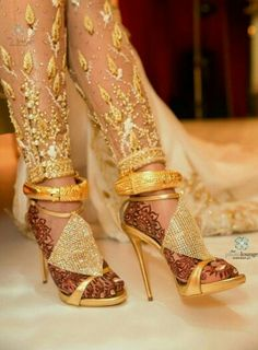 Indian/pakistani gold anklet